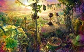 Картинка мечты, дети, детство, фантазия