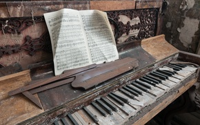 Картинка ноты, музыка, пианино