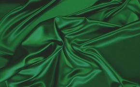 Картинка текстура, ткань, зеленая, складки, темная