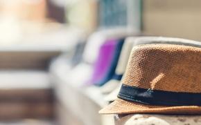 Картинка фон, фокус, размытость, шляпы