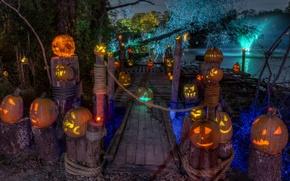 Картинка halloween, art, pumpkin