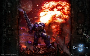 Обои Blizzard, StarCraft2, Marine