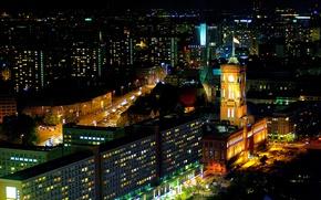 Картинка ночь, Германия, Germany, night, Берлин, Berlin