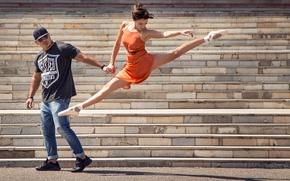 Картинка танец, ступеньки, балерина, Street Ballet