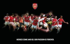 Обои надпись, логотип, эмблема, Арсенал, игроки, Arsenal, Football Club, The Gunners, Канониры, Герои приходят и уходят. ...