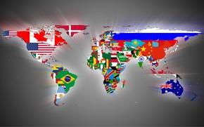 Картинка страны, карта, флаги
