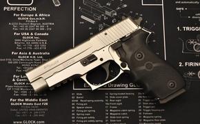 Картинка пистолет, оружие, схема, детали, сборка, разборка, глок, sigsauer, glock