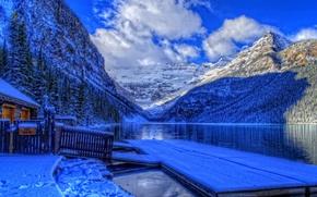 Обои banff national park, alberta, canada, канада, зима