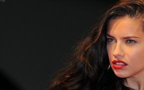 Картинка взгляд, девушка, секси, модель, макияж, брюнетка, Адриана Лима, губы, красавица, Adriana Lima, sexy, причёска, Victoria's …