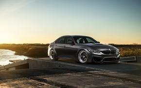 Картинка BMW, Sky, Carbon, Front, Black, Sun, Matte, F80, Mode