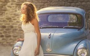 Картинка авто, девушка, ретро, the girl, Morris, Studio Hors-champ, the old car