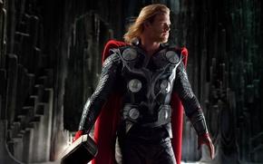 Картинка Chris Hemsworth, Викинг, Бог, Герой, Молот, Крис Хемсворт, Thor, Тор