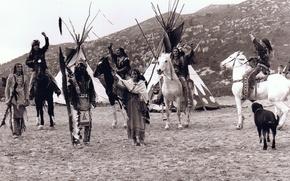 Картинка черно-белое, индейцы, вигвамы, Tipi, Lakota