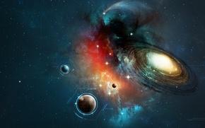Картинка космос, планеты, галактика