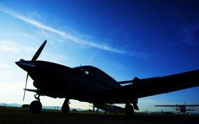 Картинка небо, авиация, фото, обои, техника, вечер, самолёты, изображение