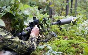 Картинка оружие, солдат, 50 caliber sniper rifle