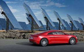 Обои e-tron, audi, солнечные батареи, tron