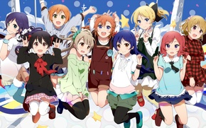 Картинка Love Live! School Idol Project, Toujou Nozomi, Kousaka Honoka, Minami Kotori, Sonoda Umi, Hoshizora Rin, …