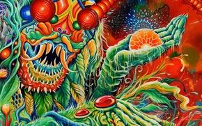 Картинка monster, монстер, band, психоделика, cover, символизм, Once More 'Round the Sun, mastodon, psyhodelic