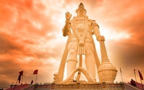 Картинка Индия, скульптура, божество, Хануман, Андхра-Прадеш, индуизм
