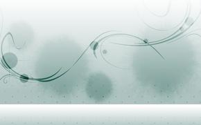 Обои серый, минимализм, вектор, точки, изгибы, пятна, Фон
