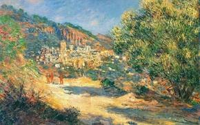 Картинка пейзаж, картина, Клод Моне, Дорога в Монте-Карло