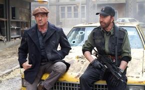 Обои The Expendables 2, Сильвестр Сталлоне, Chuck Norris, Неудержимые 2, Чак Норрис, Sylvester Stallone, Barney Ross, ...