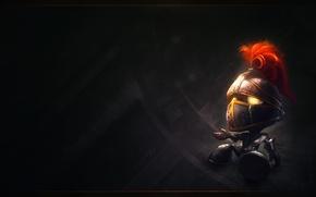 Обои League of Legends, Amumu sad knight, helmet