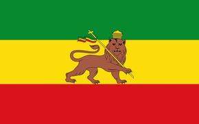 Картинка Rastafari, Раста флаг, Ethiopian empire, Эфиопская империя