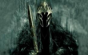 Обои Король-Чародей, Дж. Р. Р. Толкин, The Lord of the Rings, назгулов, предводитель, корона, Властелин колец, ...