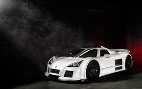 Картинка белый, свет, дым, light, white, Gumpert, supercar, smoke, Суперкар, Apollo