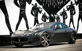 Картинка Maserati, Turismo, wheels, Gran, lowered, Customized, on 22, Niche
