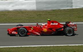 Картинка Ferrari, Formula 1, 2007, Nürburgring, Räikkönen