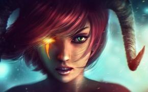 Картинка лицо, рога, art, Dungeons and Dragons