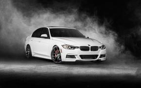 Картинка BMW, white, Vorsteiner, front, F30, 3 Series