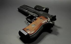 Обои макро, Beretta 87, пистолет