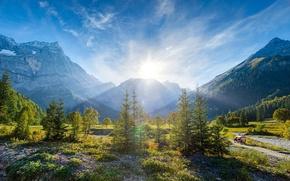 Картинка пейзаж, горы, природа, альпы