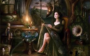 Обои рисунок, large, Melanie Delon
