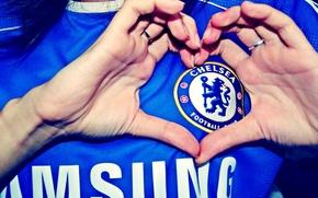 Обои Chelsea FC, logo, Blues, ФК Челси, Champions