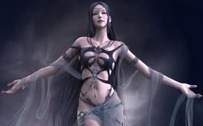 Картинка Shaiya. Light and Darkness, прозрачный палантин, браслеты, волшебница, бижутерия