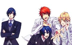 Картинка Boys, Ichinose Tokiya, Shinomiya Natsuki, Ittoki Otoya, Hijirikawa Masato, Uta no☆prince-sama♪