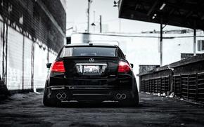 Обои хонда, honda, acura, аккорд, accord, черная, rear, акура, stance