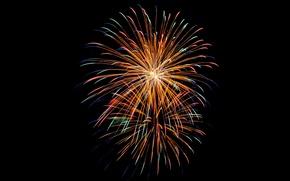 Картинка ночь, салют, фейерверк, праздник света и огня