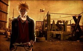 Картинка Bleach, блич, ичиго, ichigo, город