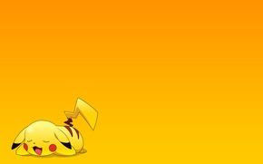 Картинка отдых, обои, мультфильм, сон, аниме, пикачу, покемон, pokemon, pikachu