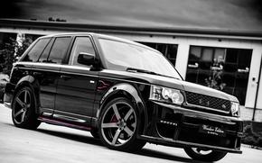 Картинка чёрный, спорт, Land Rover, Range Rover, black, Sport, рендж ровер, лэнд ровер, Windsor Edition, тюнинг-пакет, …