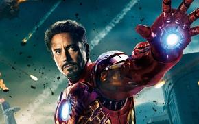 Обои железный человек, The Avengers, Robert Downey Jr, Мстители, Роберт Дауни мл