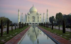 Обои Taj Mahal, River, Yamuna, Agra, India