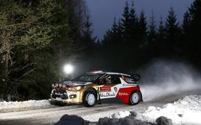 Картинка Rally Sweden, DS3, WRC, Mads Ostberg