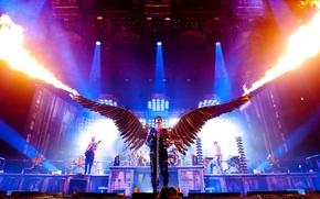 Картинка огонь, сцена, Германия, концерт, Rammstein, Angle, немцы, Раммштайн, Линдеманн, Engel, Till. Lindemann, Тилль